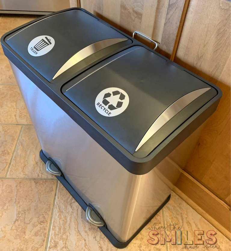 Trash And Recycling Vinyl Decals