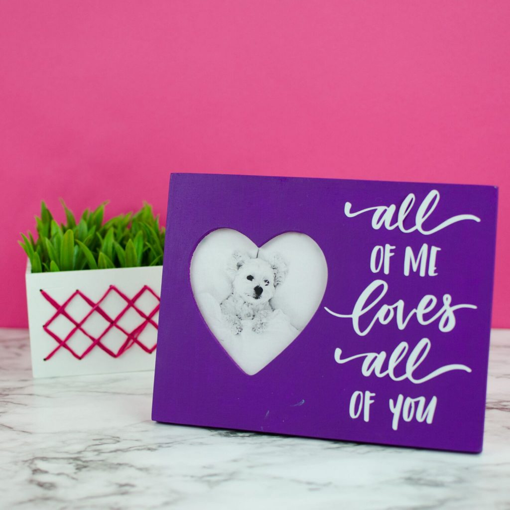 Valentines Day Photo Frame With Cricut