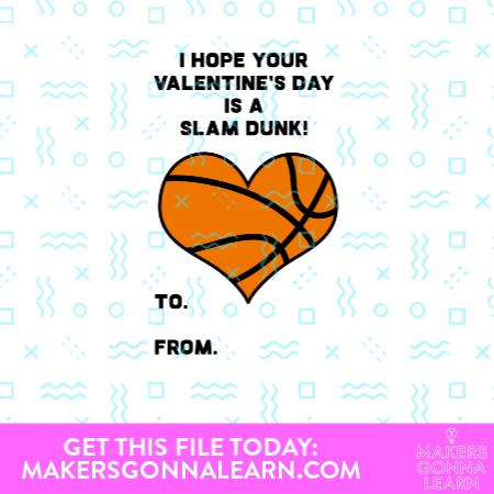 Basketball Heart Valentine