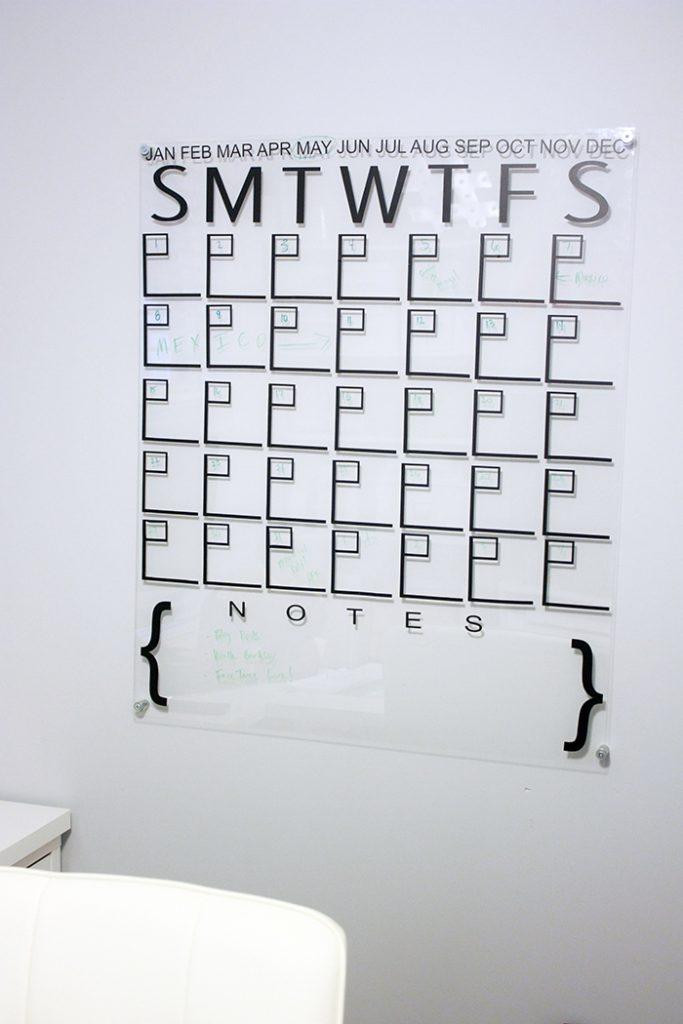 Diy Acrylic Calendar4