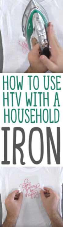 How To Use Htv With A Household Iron1