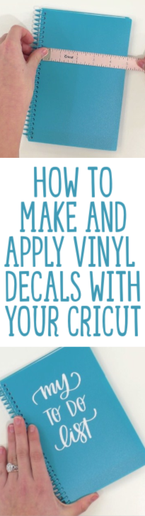 How To Make And Apply Vinyl Decals With Your Cricut
