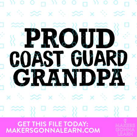 Proud Coast Guard Grandpa