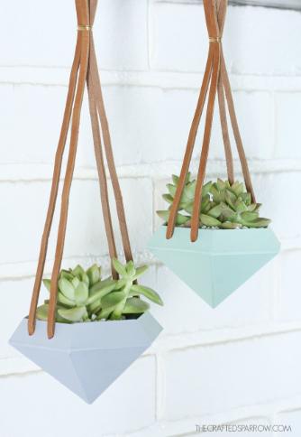 Diamond Hanging Planters