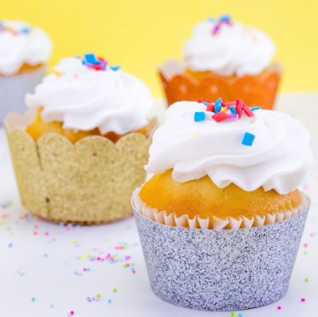 Glitter Cardstock Cupcake Wrappers