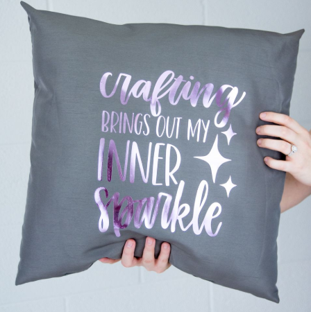 Iron On Holographic Pillow
