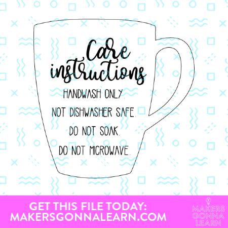 Mug Care Instructions