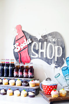 Soda Shop Wood Sign
