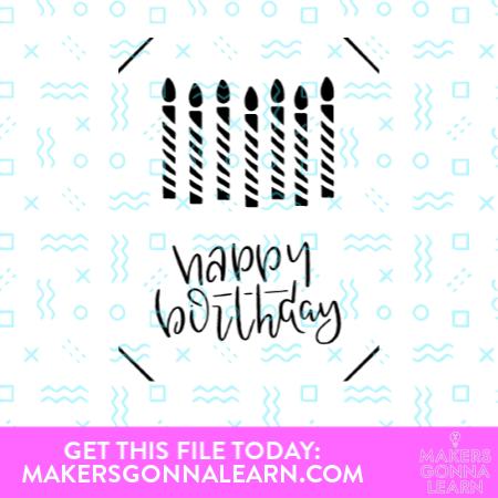 Birthday Candle Joy Card