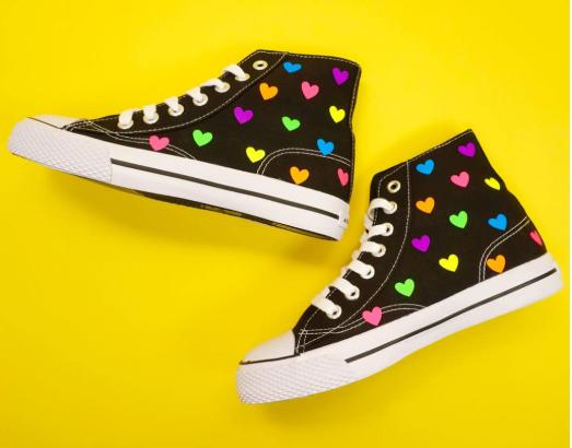 Rainbow Heart Shoes