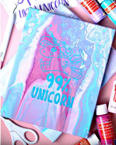 Unicorn Art Canvas