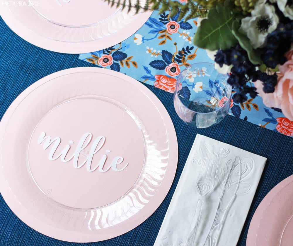 Blue Pink Baby Shower Table