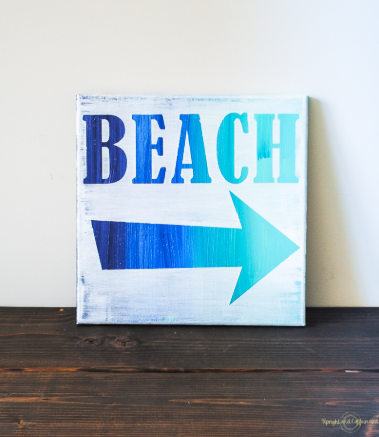 Beach Art Canvas Sign