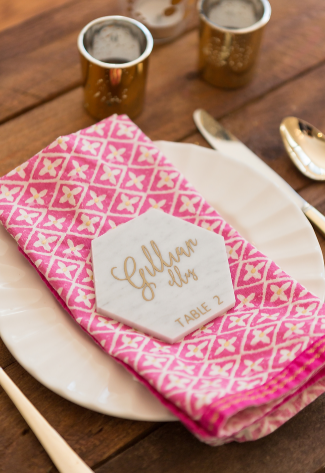 Calligraphy Marble Place Cards