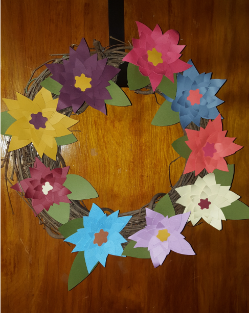 Cricut Summer Floral Wreath