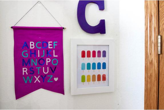 Diy Fabric Alphabet Banner