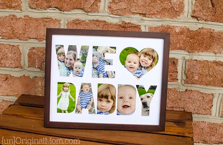 Diy Fathers Day Photo Frame