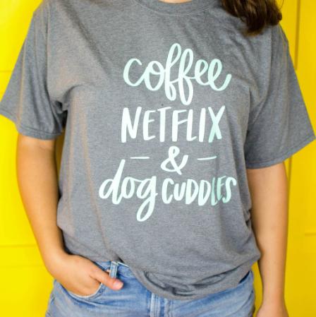 Dog Lover Iron On T Shirt