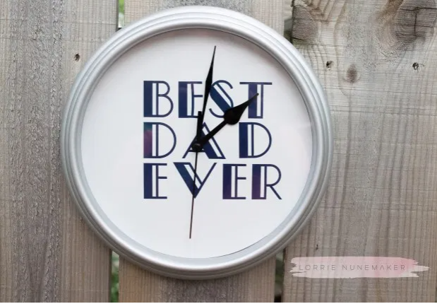 Fathers Day Clock