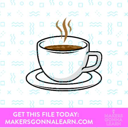 Hot Coffee Sticker