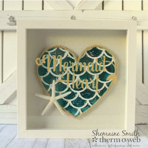 Mermaid Heart Wall Art