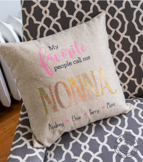 Personalized Grandparents Pillow