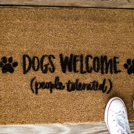 Pet Lover Stenciled Doormat