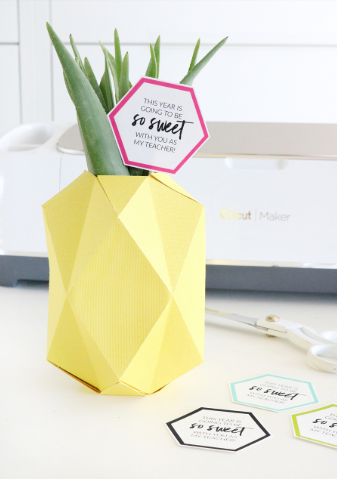 Pineapple Vase With Printable Tag
