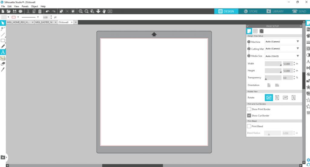 Silhouette Studio Text