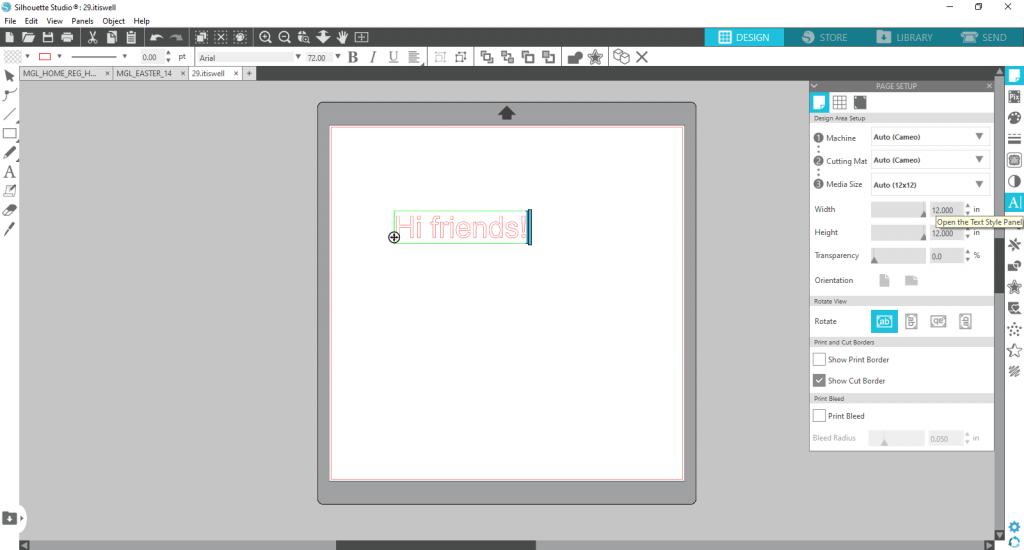 Silhouette Studio Text 2