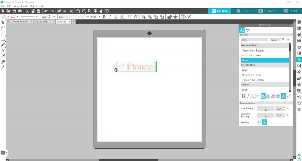Silhouette Studio Text 3
