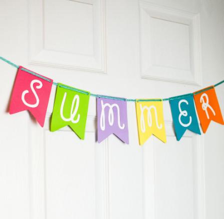 Cricut Paper Summer Banner