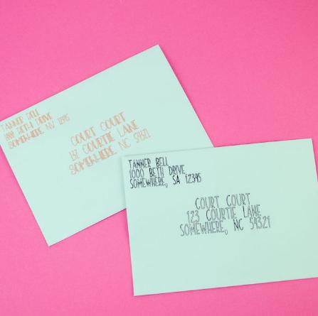 Customized Written Envelopes