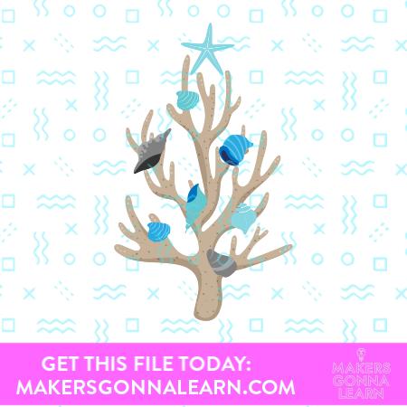 Coral Christmas Tree