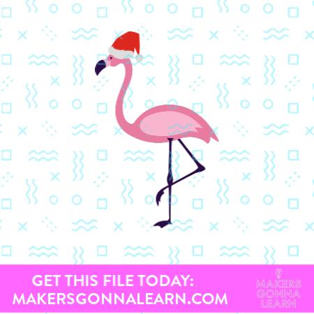 Santa Hat Flamingo