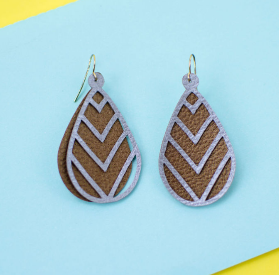 Layeredleather Earrings