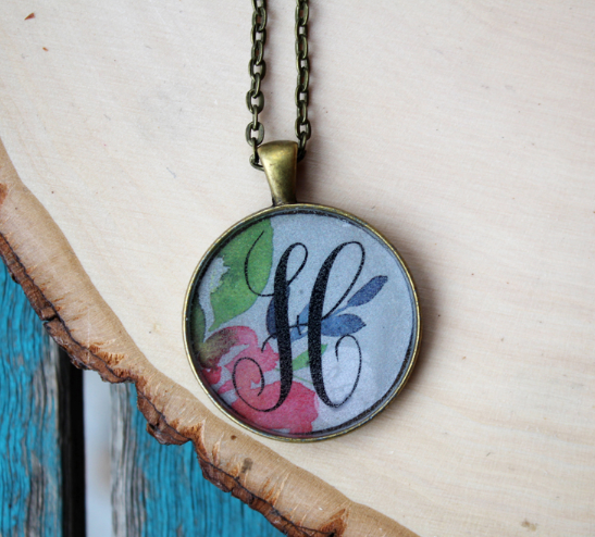 Diy Resin Monogram Necklace