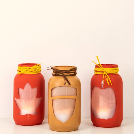 Easy Fall Luminaries