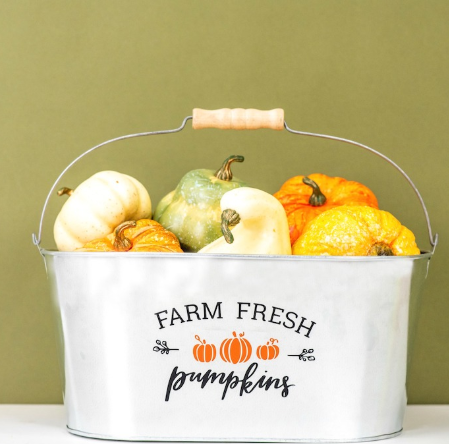 Fall Decal For Galvanized Tub