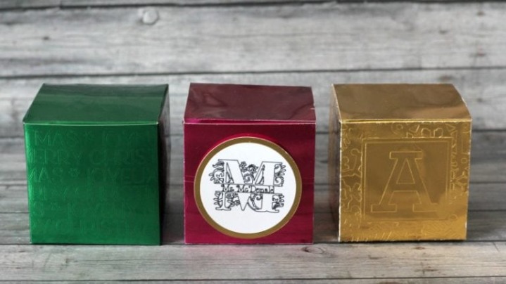 Faux Embossed Gift Boxes