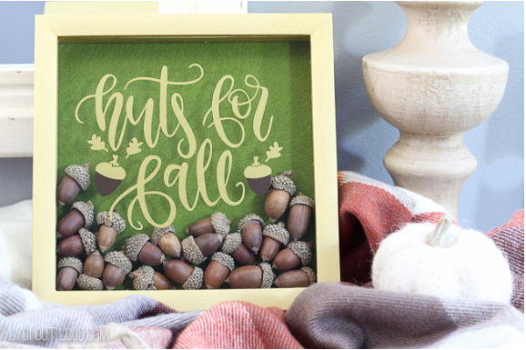 Nuts For Fall Shadowbox