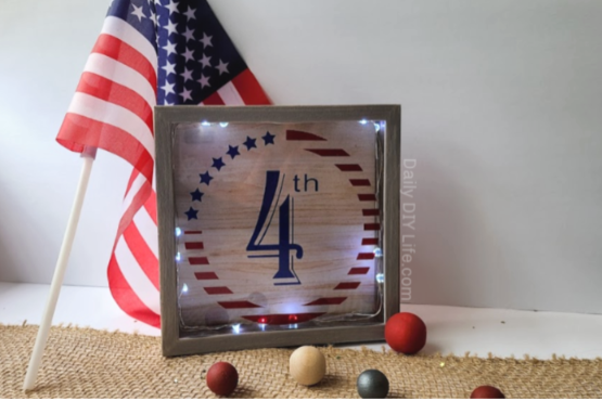 Patriotic And Festive Personalized Shadow Box