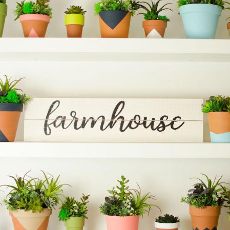 Personalized Stenciled Farmhouse Decor