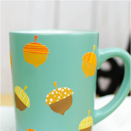 Print Then Cut Fall Mug Decals