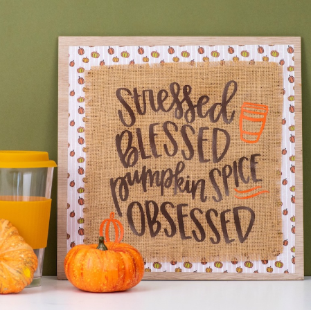 The Cutest Fall Home Decor Project With Cricut