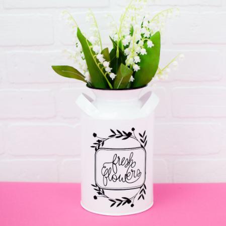 Vinyl Farmhouse Milk Jug Vase