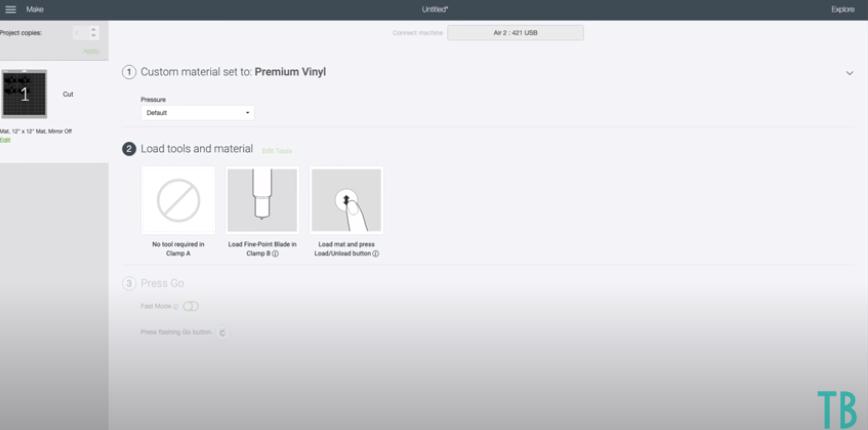 Choosing More Or Less Pressure In Cricut Design Space