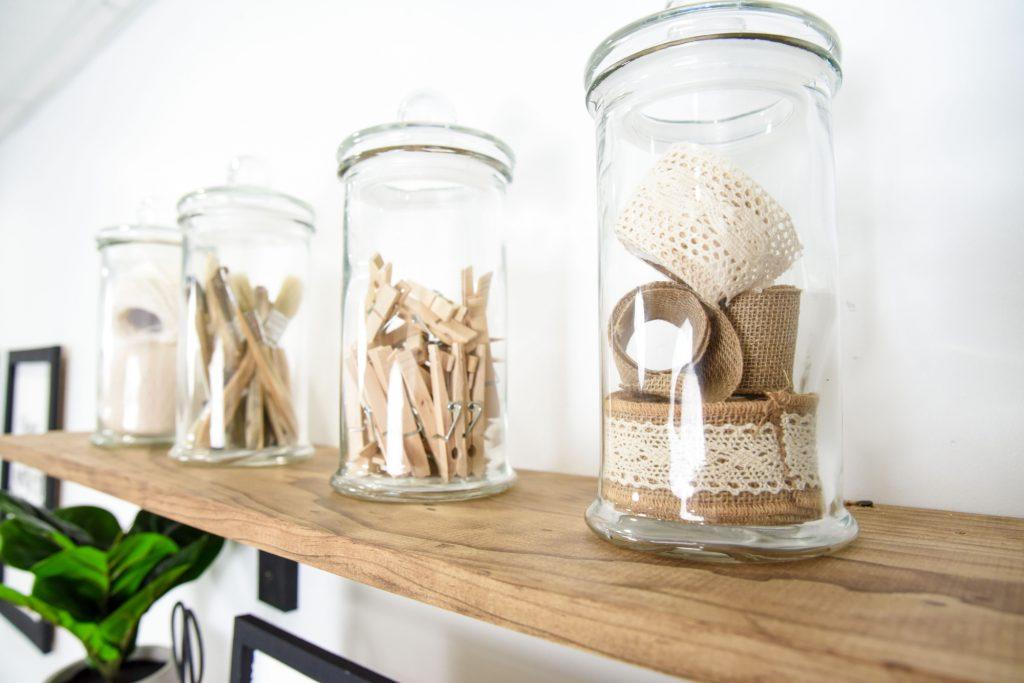 Jars Holding Craft Supplies