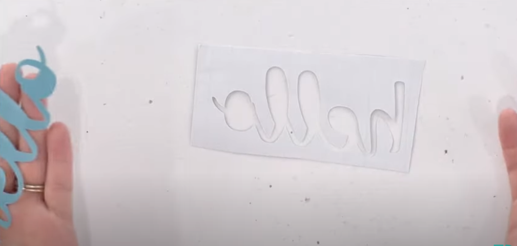 This Shows Where The Blade Has Cut Through The Vinyl And The Backing