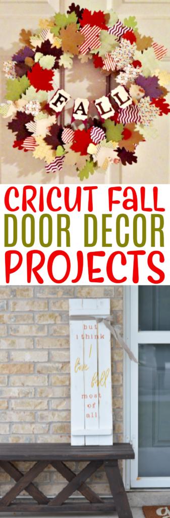 Cricut Fall Door Decor Projects